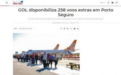 GOL disponibiliza 258 voos extras em Porto Seguro