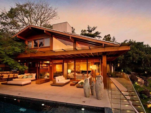 Arquitetura de casas modernas rústicas