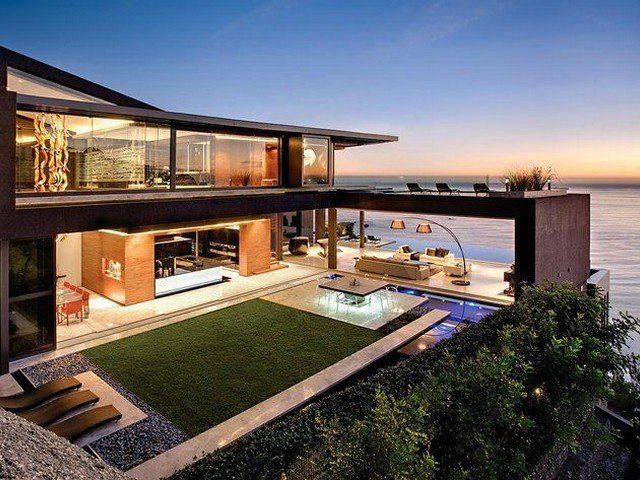 Arquitetura moderna na praia