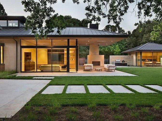 Casa moderna no campo
