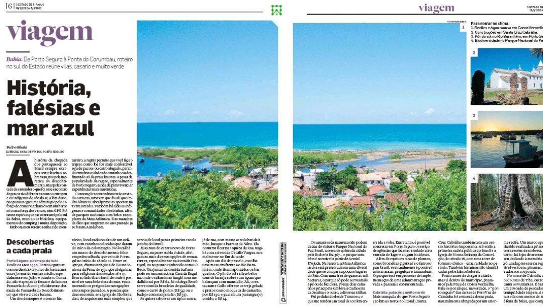 Histórias, Falésias e Mar Azul – O Estado de S. Paulo