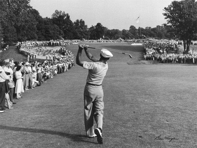 Ben Hogan, lendário golfista que iniciou o jantar dos campeões