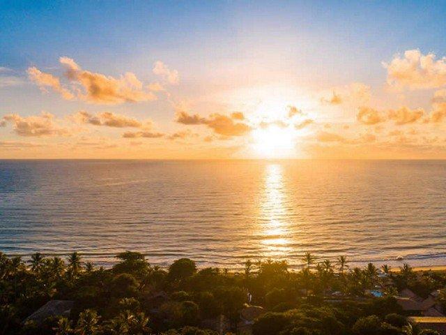 Pôr do sol em Trancoso, na Bahia