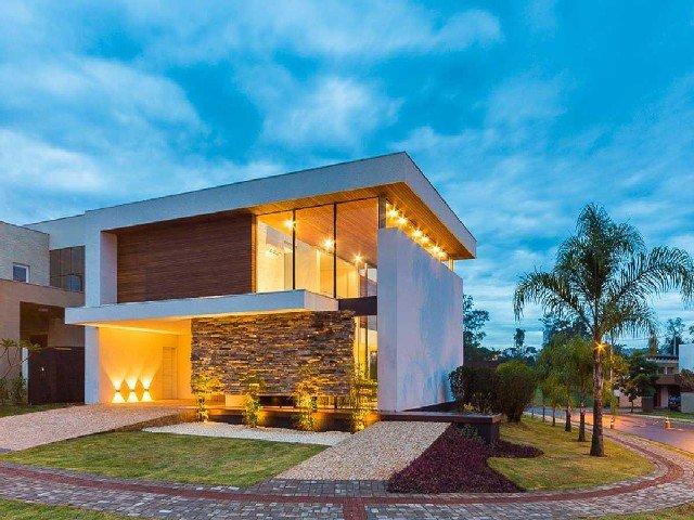 Principais cores de casas modernas